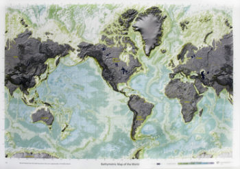 bathymetric map