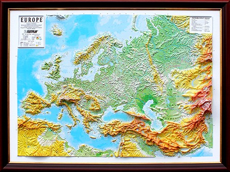Raised Relief Map Of Europe Unframed X What If - Raised relief map