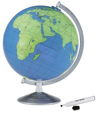 writeable geographer globe