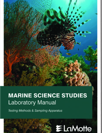 laboratory manual marine science cover