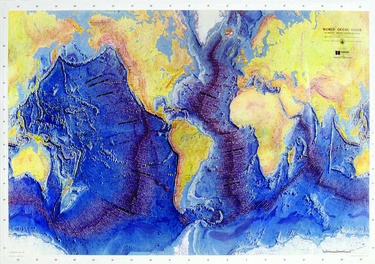 Raised Relief World Map.Raised Relief Map Of The Ocean Floor W Teacher S Guide